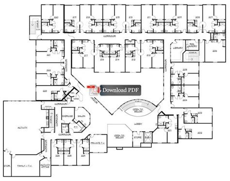 assisted living floor plan gallery for gt assisted living facilities floor plans one