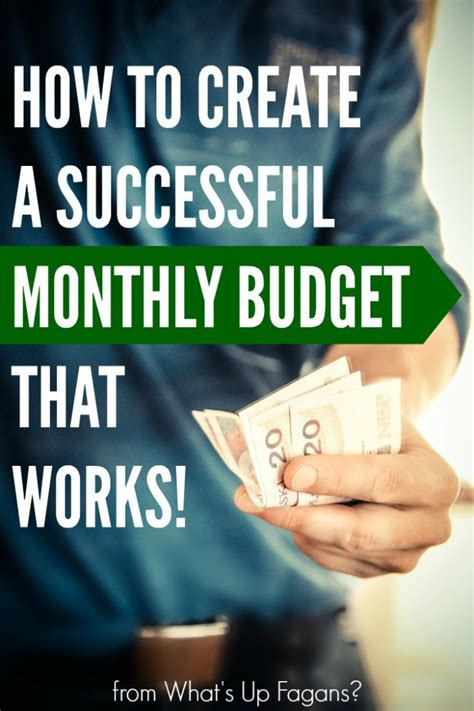 create  successful monthly budget  works  excel
