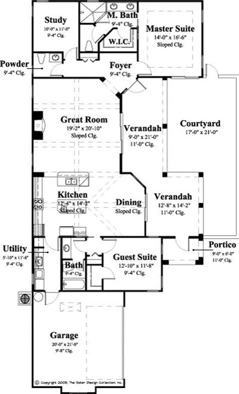 Single Story House Plans For Narrow Lots by 1 Story Narrow Lot House Plan Home And Decor