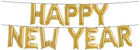 new year gold balloons foil phrases happy new year gold