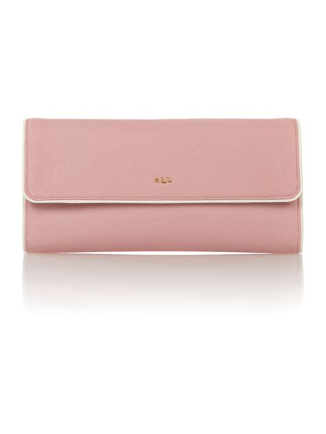 the pink clutch a small space with a big statement lauren by ralph lauren dorset pale pink small clutch bag