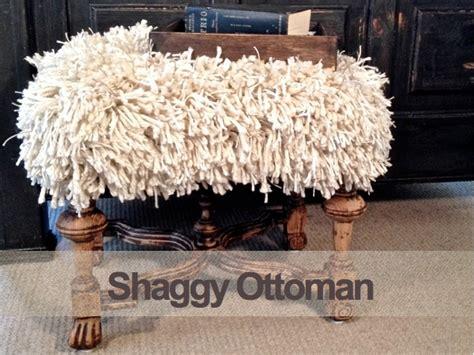 shaggy pouf ottoman shaggy ottoman country design style