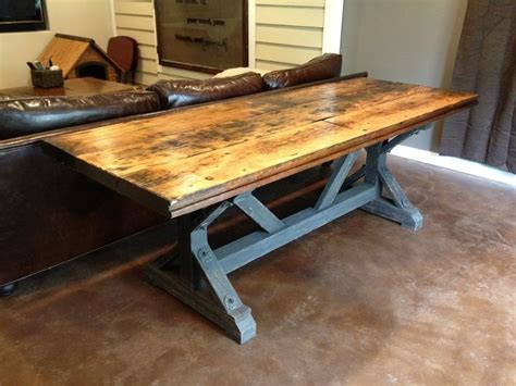 rustic trestle table plans 17 best images about tables on barnwood dining