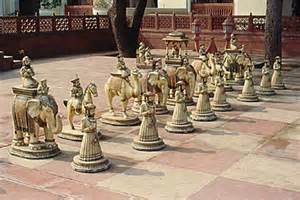 ancient chess painet licensed rights stock photo of ancient indian chess