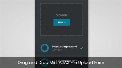 html design drag and drop drag and drop mini ajax file upload form