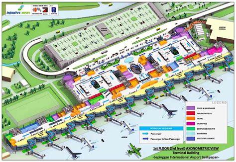 layout bandara pertama di indonesia bandara dilengkapi pusat belanja