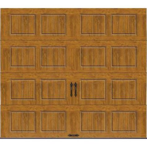 clopay gallery collection 8 ft clopay gallery collection 9 ft x 8 ft 18 4 r value intellicore insulated solid ultra grain