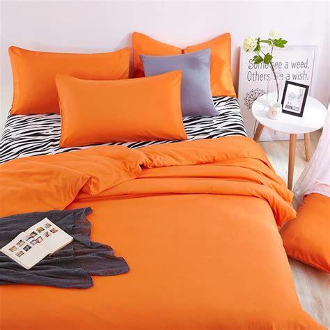 summer bed sheets double color element zebra orange bedding sets summer bed
