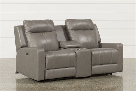 Dual Reclining Loveseat With Console by Sequoia Dual Power Reclining Loveseat W Console
