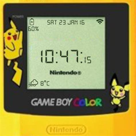 gameboy color pikachu edition gameboy color pikachu edition for smartwatch 3 facerepo