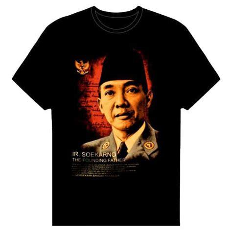 Kaos Kirangan Murah Kaos Proklamator Bung Karno Kaos Soekarno kaos hitam presiden pertama koleksi antik koleksi antik