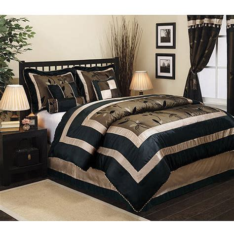 walmart queen bedding sets pastora 7 piece bedding comforter set walmart com