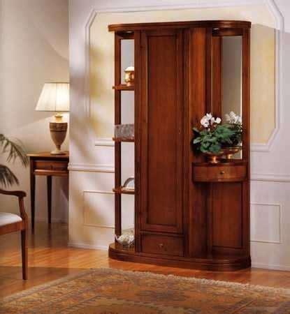 mobili da ingresso classici mobile in legno con vano portaindumenti