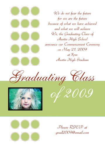 sle of high school graduation invitations wedding