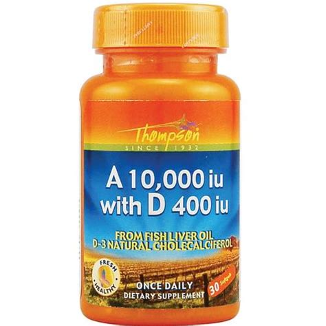 Thompsons Ultra Liver Detox Reviews by Thompson A 10 000 Iu With D 400 Iu 30 Softgels