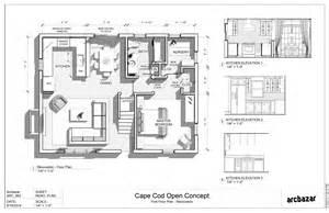 cape cod plans open floor cod home plans ideas picture cape cod house plans with open floor plan free home