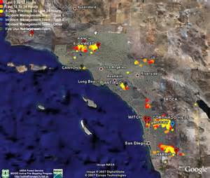 southern california fires today map map of us fires