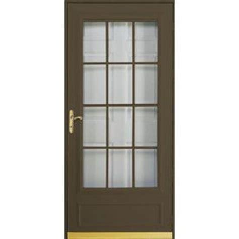 pella retractable screen door pella cheyenne brown mid view safety retractable screen