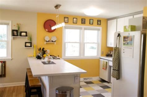 yellow kitchen color schemes happy paint colors for a cheerful home