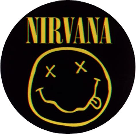 Blacklabel Rock Band T Shirt The Doors Glow In The Bl Doors 001 M nirvana smiley logo sticker