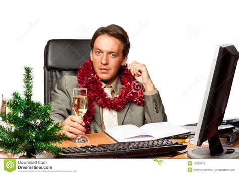 christmas in the office stock image image of drink