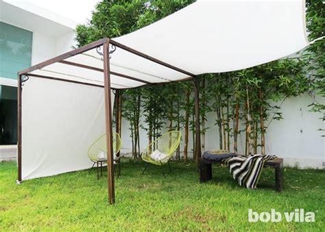 Diy Outdoor Privacy Screen And Shade Tutorial Bob Vila Diy Backyard Shade
