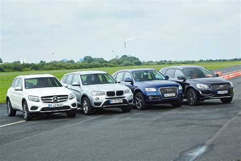 comparison test mercedes glc vs audi q5 bmw x3
