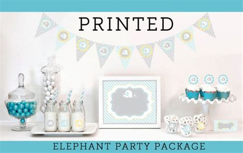 Baby Shower Decoration Kits by Elephant Baby Shower Decorations And Supplies Kit For By