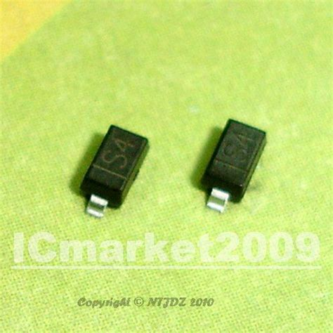 schottky diode s4 100 pcs s4 sod 123 1n5819 mmbd5819 1206 smd diode surface mount schottky jpg