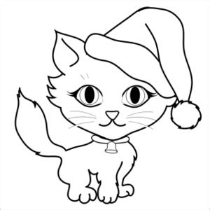 christmas coloring pages with cats free free cat clip art image 0515 0912 1801 4020