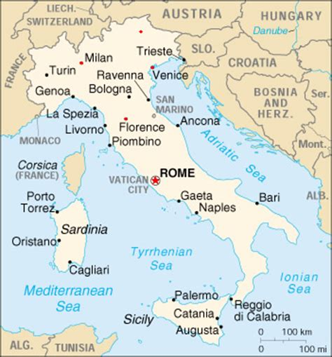 map of italy and surrounding countries vacation in italy