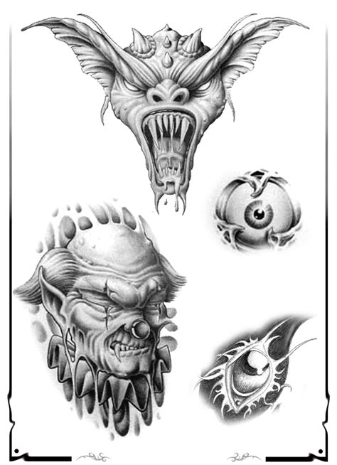 skull tattoo flash designs skull adn design img526 demons design