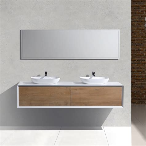 Wall Hung Vanity by Sydney Fiona Wall Hung Vanity 190cm Bi Colour Ka Design