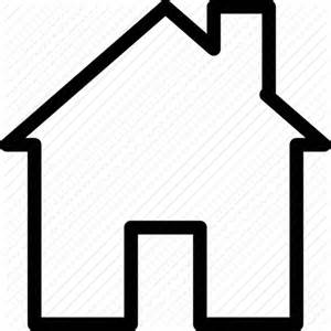 shape of house apartment building creative grid home house line real estate shape shelter icon icon