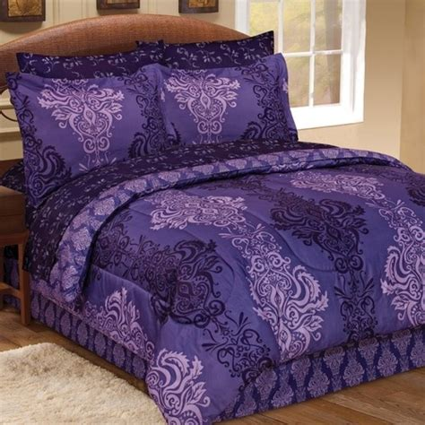 purple damask bedding purple damask comforter set twin full queen or king