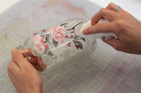Decoupage Tips - decoupage techniques glass jar adorable home