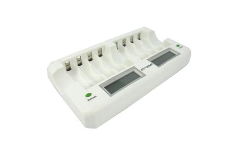 smart fast 8 bay battery charger titanium