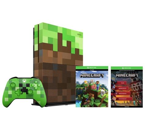 xbox one console box buy xbox one s 1tb minecraft limited edition console