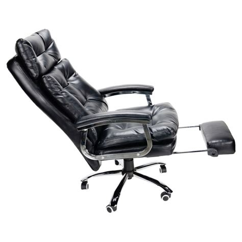 chair with footrest leather executive reclining office chair with footrest ergonomic