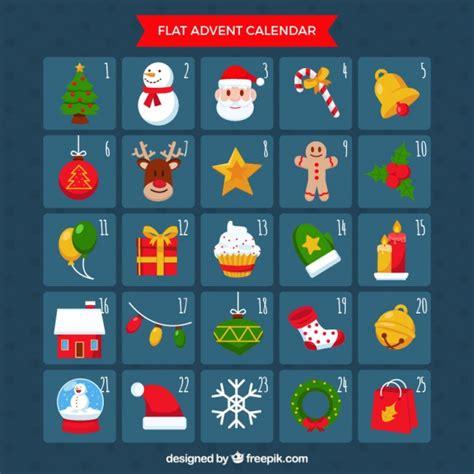 design advent calendar advent calendar in flat design vector free download