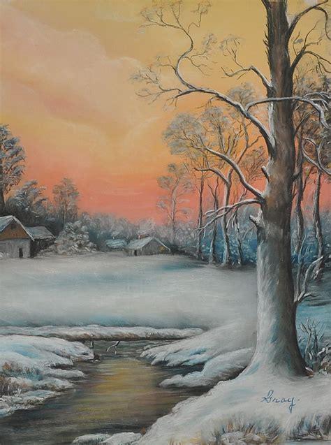 Vintage Landscape Pictures Vintage Winter Landscape Signed Gray C 1940 From