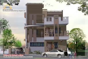 Three Story House Plans by 3 Story House Plan And Elevation 2670 Sq Ft Kerala