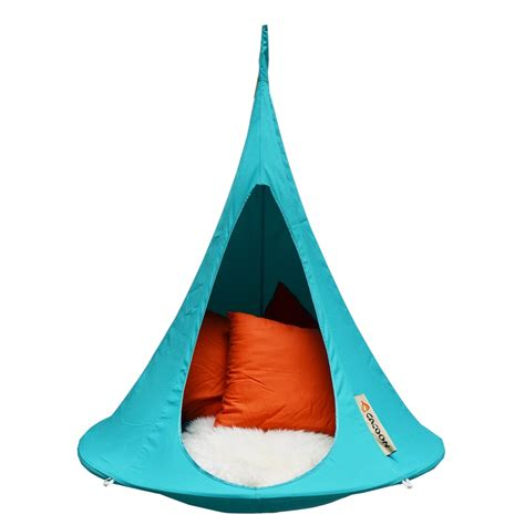 kids hanging chair for bedroom the bonsai cacoon in turquoise blue is the smallest hang