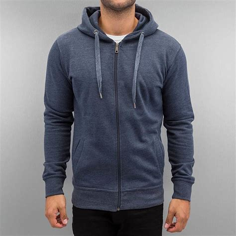 Blue Zip cyprime basic zip hoody blue woodmint