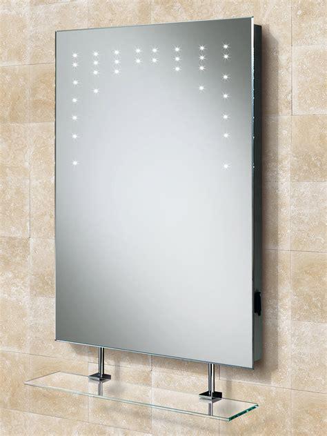 hib rain led bathroom mirror  glass shelf  shaver