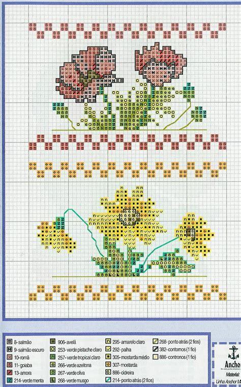 punto croce schemi fiori fiori papaveri e margherite schemi punto croce categoria