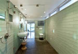Glass Tile For Bathrooms - bathroom glass tile bathroom contemporary with accent tiles ceiling lighting beeyoutifullife com