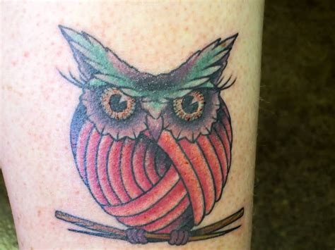 owl knitting tattoo 60 best knitting tattoos