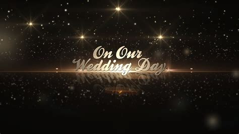 after effects template golden wedding pack youtube