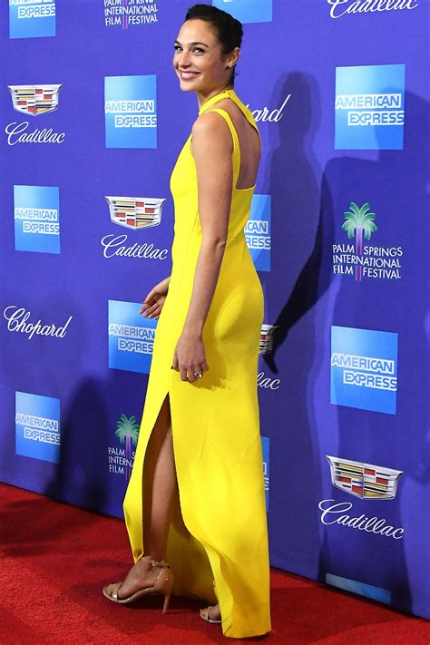 biography film festival gal gadot is a wonder in yellow at the palm springs